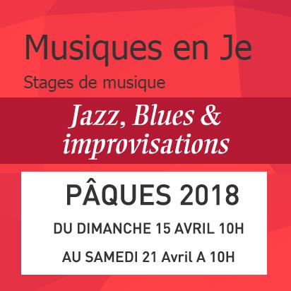 Stage de Jazz, Blues & Improvisations avec Musique en Je- Masz de Vézenobre Au Vigan