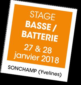 Stage 27 et 28 janvier à SONCHAMP - Basse /Batterie