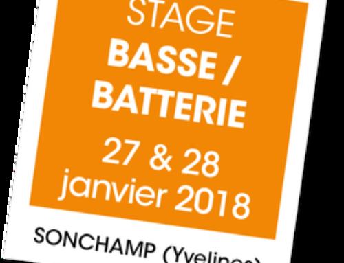 Stage A vous de jouer – Basse/Batterie à SONCHAMP (78)