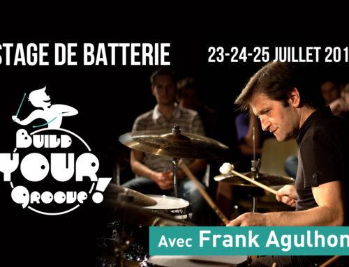 BYG Stage de Batterie avec Frank Agulhon – 23/24/25 juillet 2018